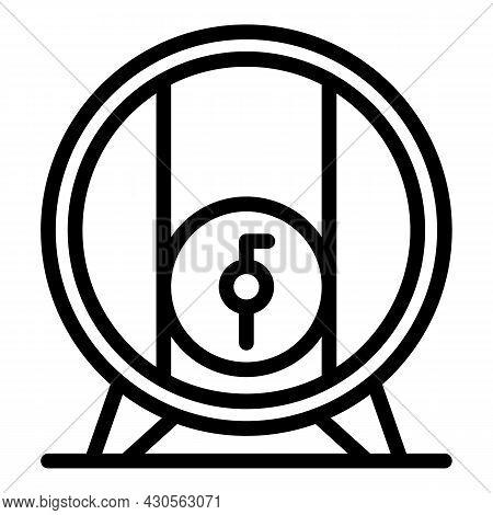 Beer Barrel Icon Outline Vector. Wooden Cask. Whiskey Wine