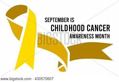 Childhood Cancer Awareness Month. Vector Illustration