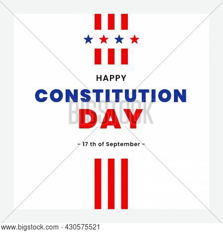 American Constitution Day National Day Of America For Banner, Social Media, Greeting, Poster