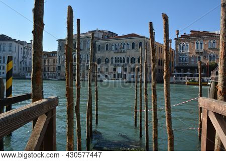 View Of The Grand Canal And The Small Boat Marina In Venice