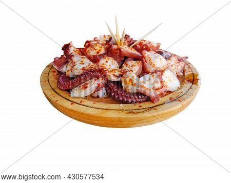 Pulpo A La Gallega In Spanish Meaning Galician-style Octopus  Or Polbo A Feira Meaning Fair-style Oc