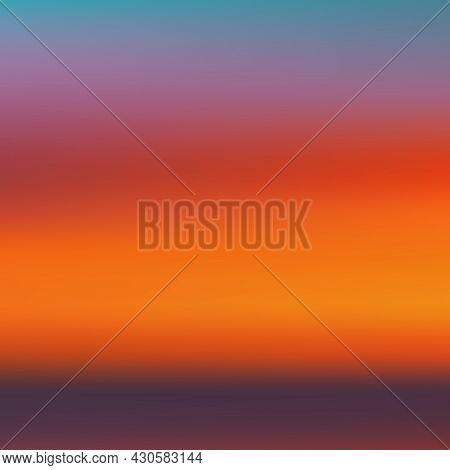 Sunset Gradient Backdrop. Sunset Wallpaper. Sunrise Backdrop. Vector