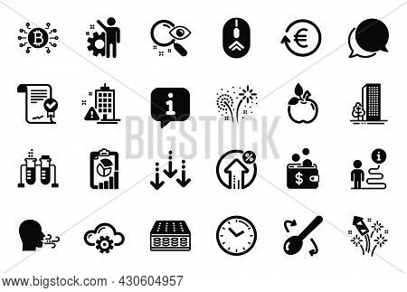 Vector Set Of Business Icons Related To Loan Percent, Exchange Currency And Swipe Up Icons. Mattress