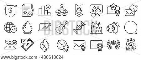 Set Of Education Icons, Such As Interview Job, Justice Scales, Group People Icons. Fire Energy, Vip