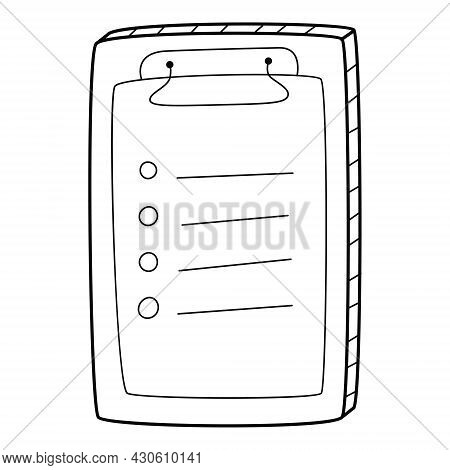 Questionnaire, Checklist, To-do List, Questionnaire, Voting Form. A Tablet With An Attached Sheet. H