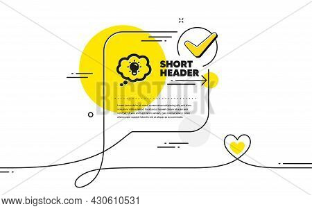 Energy Icon. Continuous Line Check Mark Chat Bubble. Lightbulb Sign. Electric Power Symbol. Energy I