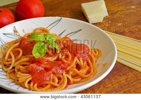 Closeup Of A Spaghetti Plate