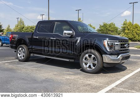 Indianapolis - Circa August 2021: Ford F-150 Display At A Dealership. The Ford F150 Is Available In