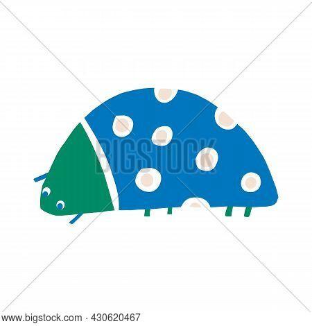 Whimsical Cute Doodle Bug Shape Motif. Modern Trendy Minimalist Style Icon Clip Art. Fun Unusual Col
