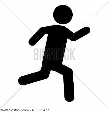 Running Man Icon On White Background. Sport Sign. Run Symbol. Flat Style.