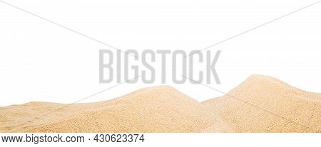 Panoramic Pile Sand Dune Isolated On White