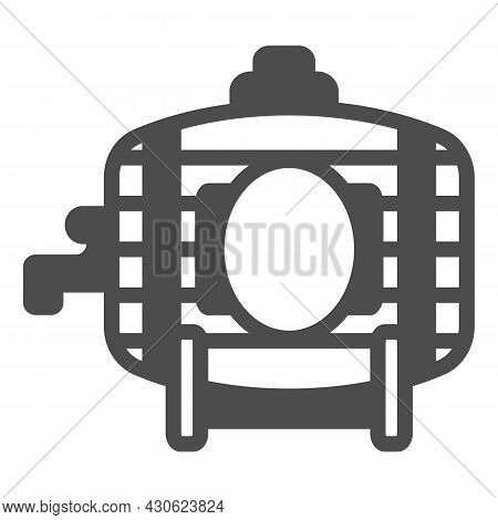 Wooden Wine Barrel With Tap Solid Icon, Winery Concept, Winery, Brewery Vector Sign On White Backgro