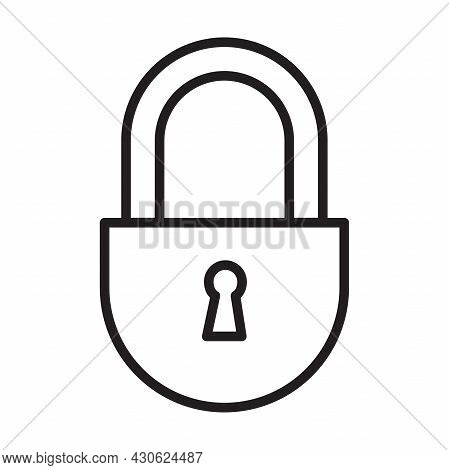 Lock And Unlocked Vector Icons Security Padlock, Password, Privacy Symbol For Graphic Design, Logo,