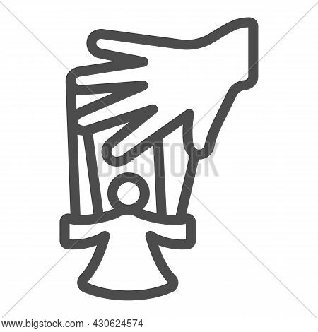 Hand Of The Puppeteer And Marionette Line Icon, Theater Concept, Puppet Theatre Vector Sign On White
