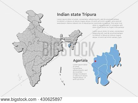 Vector Map Country India And State Tripura
