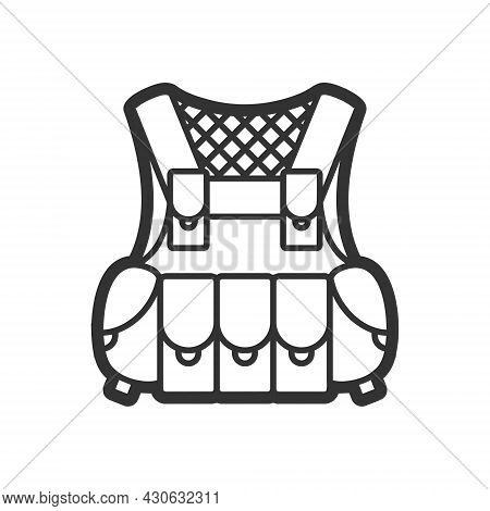 Protection Vest, Vector Flat Paintball Or Airsoft Icon