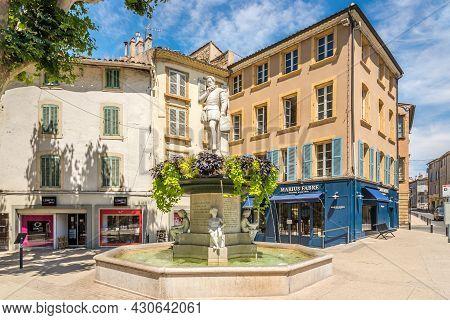 Salon De Provence, France - June 26,2021 - In The Streets Of Salon-de-provence. Salon Is A Commune L