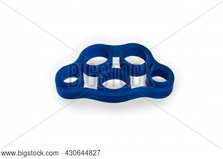 Hand Grip Strengthener In Blue Isolated On White Background.