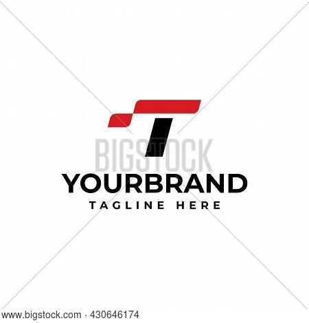 Letter T Logo, Technology For Your Corporate Identity. Racing Logo Design Concept Template.