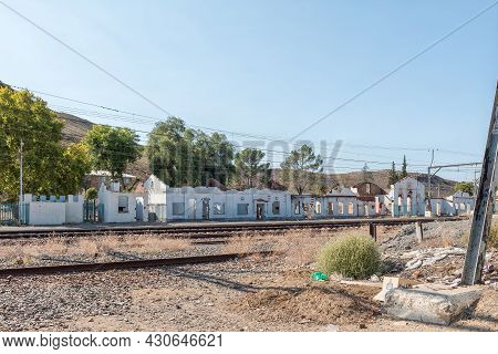 Touws River, South Africa - April 20, 2021: Ruins Of The Railroad Station Buildings In Touws River I