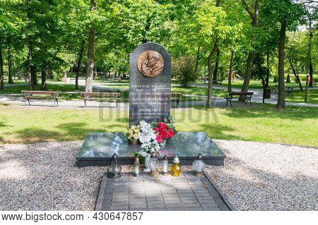Kedzierzyn-kozle, Poland - June 4, 2021: Monument Commemorating John Paul Ii.