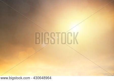 Blur Gradient Sunset Background On Soft Nature Sunrise Peaceful Morning Beach Outdoor. Heavenly Mind