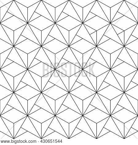 Geometric Abstract Vector Pattern. Geometric Modern Black And White Ornament. Seamless Modern Backgr