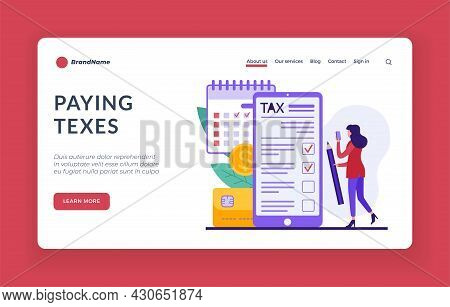 Pay Taxes Online. Monthly And Quarterly Payment For Tax And Utility Returns. Accounts And Web Transa