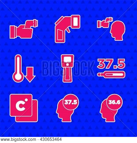 Set Digital Thermometer, High Human Body Temperature, Medical, Celsius, Meteorology, Checking And Ic