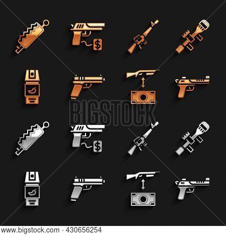 Set Pistol Or Gun, Sniper Optical Sight, Desert Eagle, Buying Assault Rifle, Pepper Spray, M16a1, Tr
