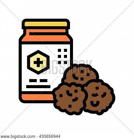 Propolis Container Beekeeping Color Icon Vector. Propolis Container Beekeeping Sign. Isolated Symbol