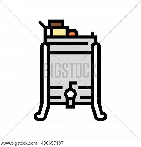 Honey Extractor Beekeeping Color Icon Vector. Honey Extractor Beekeeping Sign. Isolated Symbol Illus