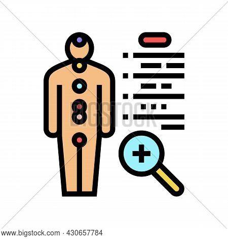 Human Health Examination Endocrinology Color Icon Vector. Human Health Examination Endocrinology Sig