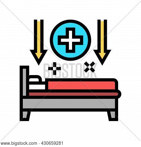 Bed Rest Hepatitis Color Icon Vector. Bed Rest Hepatitis Sign. Isolated Symbol Illustration