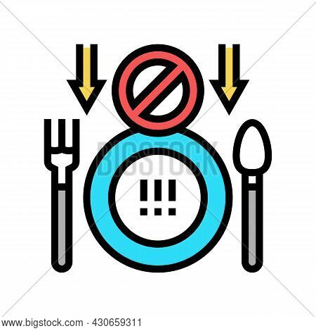 Loss Of Appetite Hepatitis Color Icon Vector. Loss Of Appetite Hepatitis Sign. Isolated Symbol Illus