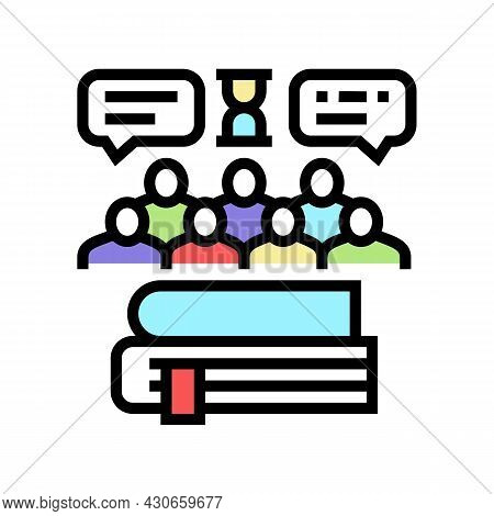 Social History Color Icon Vector. Social History Sign. Isolated Symbol Illustration