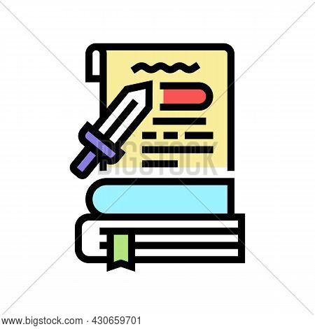 History Book Color Icon Vector. History Book Sign. Isolated Symbol Illustration
