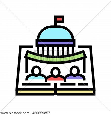 Political History Color Icon Vector. Political History Sign. Isolated Symbol Illustration