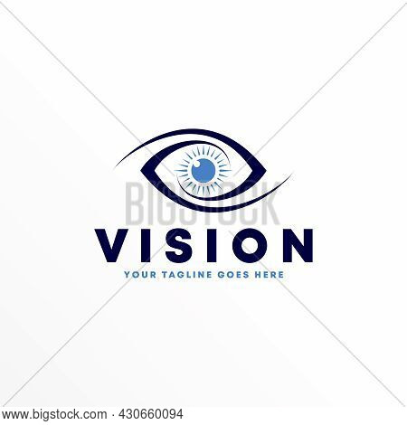 Eye Free Logo Vector Stock. Flip Abstract Design Concept. Can Be Used As A Symbol Related To Health.