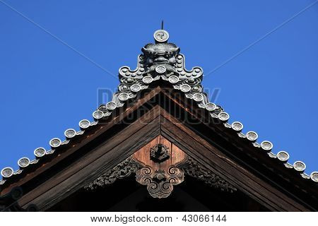 Japanese Crafted Temple Roof Top