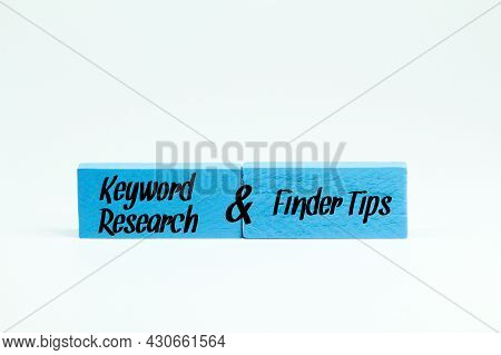 Colored Boards With The Words Keyword Research And Finder Tips