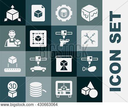 Set Basic Geometric Shapes, 3d Printer Chicken Leg, Setting, Geometric Figure Cube, Graphic Designer