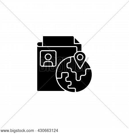 Ethnic Origin Privacy Black Glyph Icon. Personal Data Security. Collecting Ethnicity Information. Pr