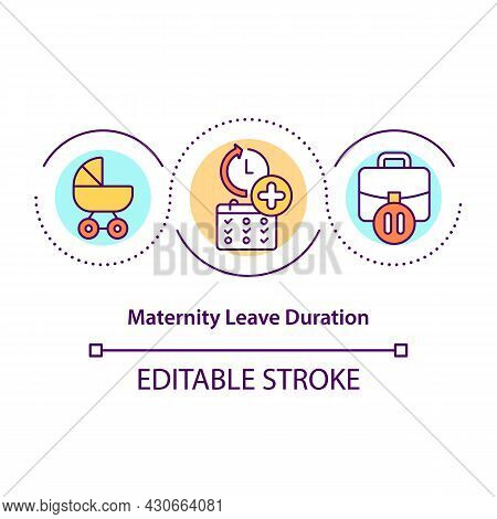 Maternity Leave Duration Concept Icon. Continuation Of Parental Leave Abstract Idea Thin Line Illust