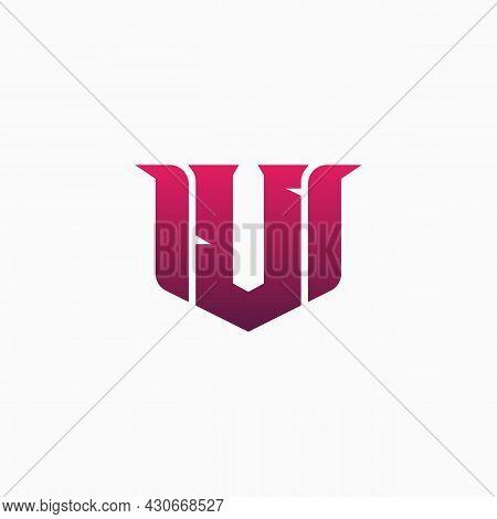 U Gaming Esports Logo Design Template Inspiration. E-sport Letter Logo Design Concept Template