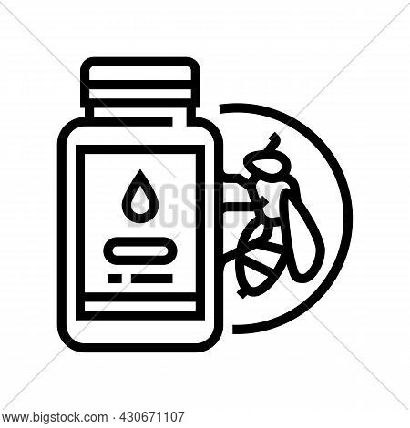 Royal Jelly Beekeeping Line Icon Vector. Royal Jelly Beekeeping Sign. Isolated Contour Symbol Black