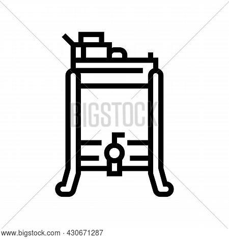 Honey Extractor Beekeeping Line Icon Vector. Honey Extractor Beekeeping Sign. Isolated Contour Symbo