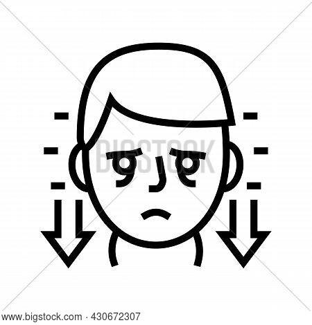 Hyperthyroidism Endocrinology Line Icon Vector. Hyperthyroidism Endocrinology Sign. Isolated Contour