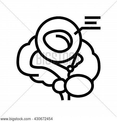 Pineal Gland Endocrinology Line Icon Vector. Pineal Gland Endocrinology Sign. Isolated Contour Symbo