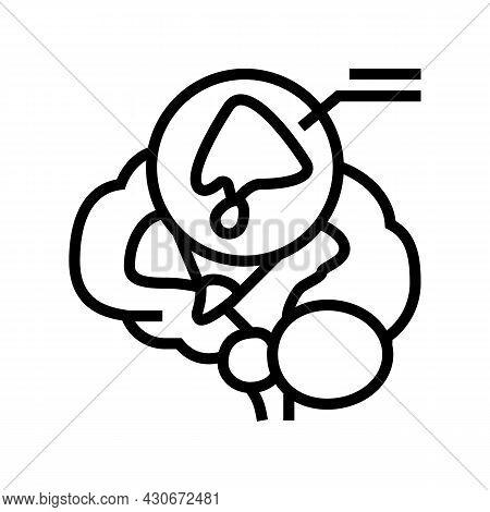 Hypothalamus Endocrinology Line Icon Vector. Hypothalamus Endocrinology Sign. Isolated Contour Symbo